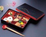 Echizenn lacuer  japanese style dishup box Nagate sumikiri kuro shyrokusa  Freeshipping
