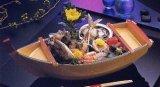 Price limited Japanese ship shaped dish up plate FUNAMORI Shogun fune Tomonami Free shipping