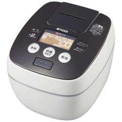 "Photo1: Tigar""Steaming"" pressure IH rice cooker (5.5 go) is JPB-G101-WA cool white free shipping"